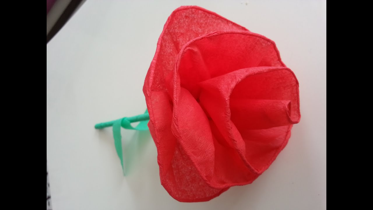 Krapon Kağıdı ile Kolay Gül Yapımı