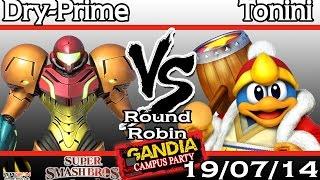 [Gandia Campus Party 2014] Tonini (DDD) vs Dry-Prime (Samus) - Round Robin