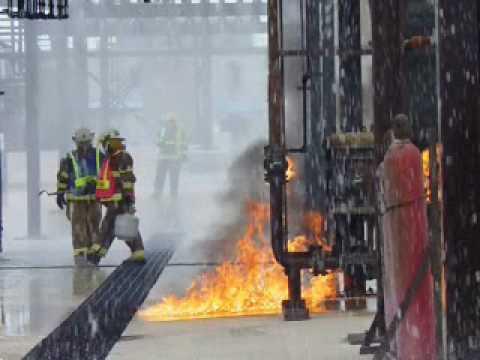 Industrial Firefighters Tackle TEEX Prop 31
