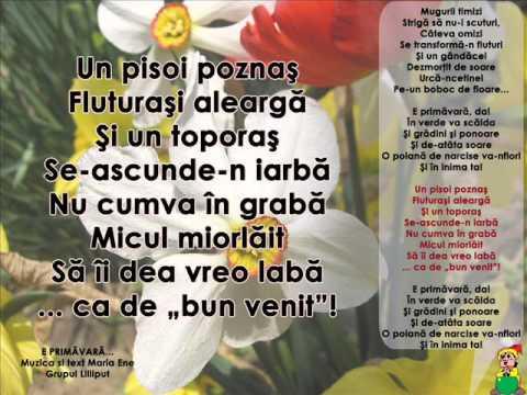E PRIMĂVARĂ… – Cantece pentru copii in limba romana