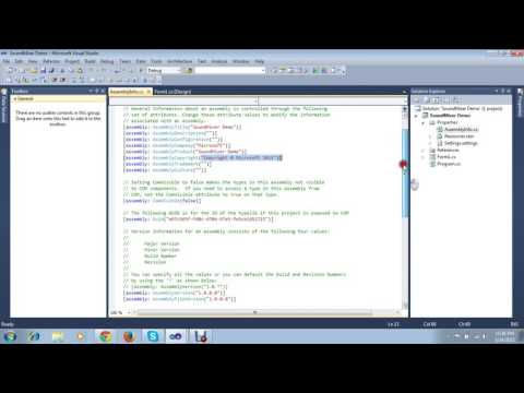 Sound Mixer Application in c# Lecture No.1