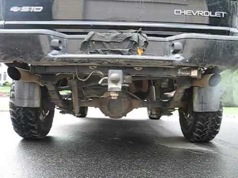 s10 glasspack dual exhaust before after