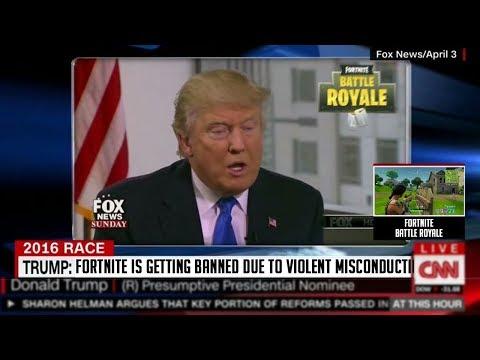 Donald Trump Is Banning Fortnite...