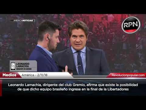 *TIEMBLA RIVER* Dirigente del club brasileño Gremio dice que podrían estar en la final