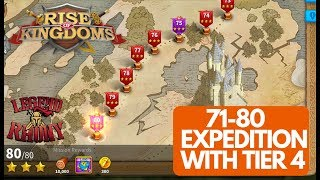 71-80 EXPEDITION GUIDE with Tier 4 for 3 star - Rise of Kingdoms