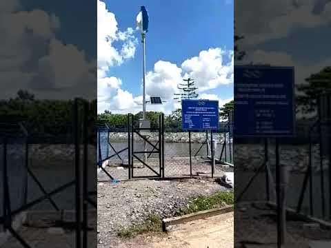400w spiral vertical wind turbine at Malaysia site