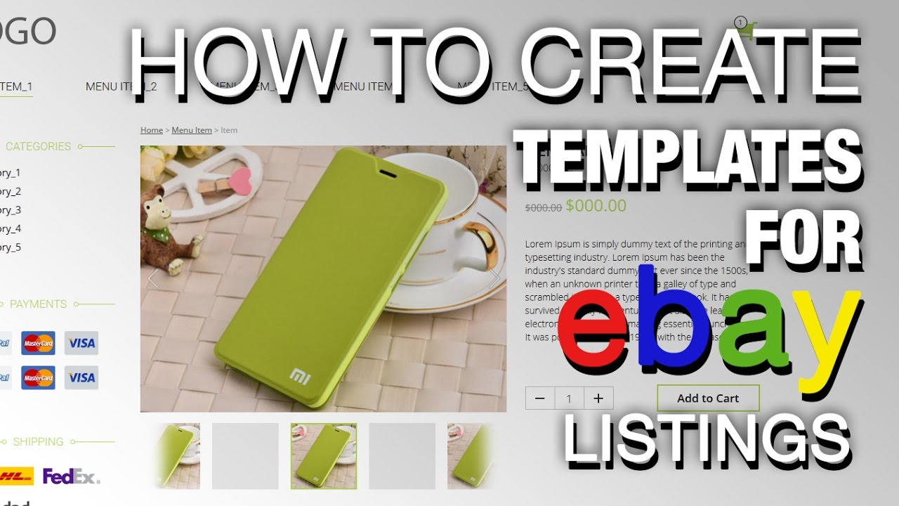 How to create unique template for ebay listing - YouTube