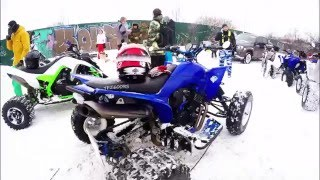 yamaha yfz raptor 660 rs ice drift in moscow kostya luk