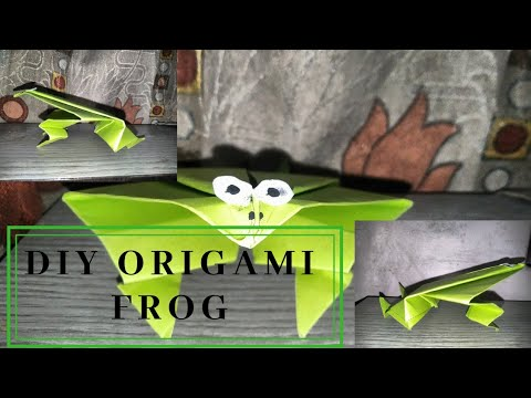 How to make a DIY origami paper frog 🐸