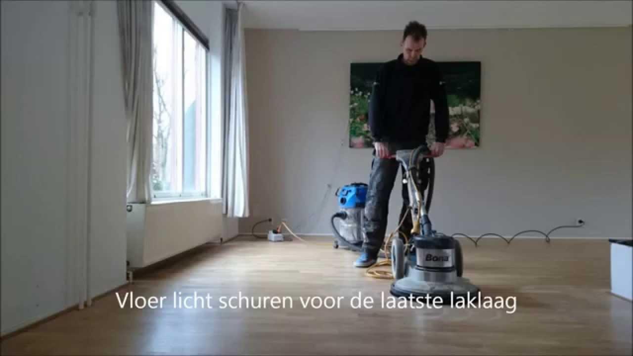 Eiken houten vloer schuren en lakken youtube