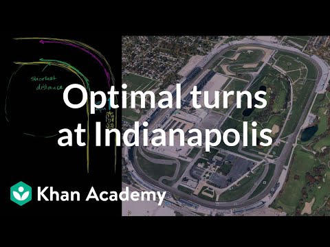 Optimal turns at Indianapolis Motor Speedway with JR Hildebrand | Physics | Khan Academy