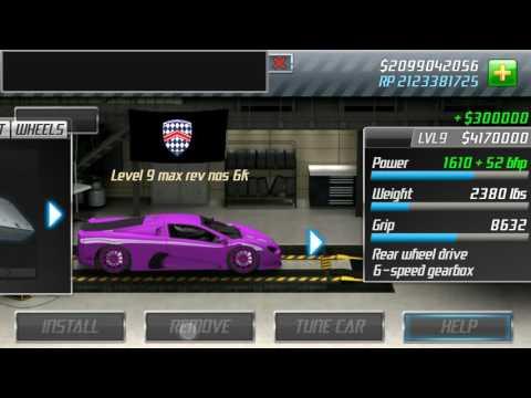 drag racing Level 9 SSC ULTIMATE AERO tune (7.749)