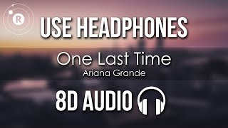 Cover images Ariana Grande - One Last Time (8D AUDIO)
