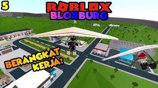 Berangkat Kerja Naik Wind Smasher!! 😎 - Roblox Bloxburg Indonesia : Ep.5