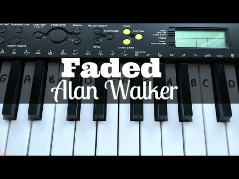 Faded - Alan Walker | Easy Keyboard Tutorial With Notes (Right Hand)