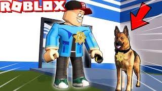 ROBLOX WIĘZIENIE - PIES POLICYJNY! (Roblox Roleplay Jailbreak) - Vito i Bella