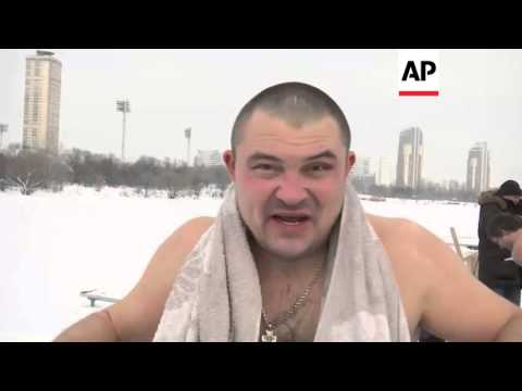 Moscow - Russians take icy dip to mark Epiphany   Editor's Pick   19 Jan 16