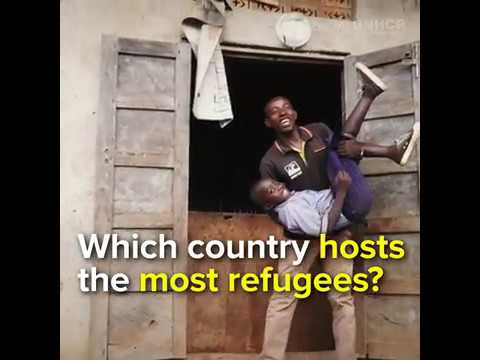 Which country hosts the most refugees?