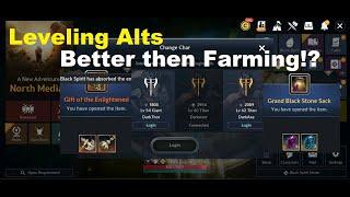 Black Desert Mobile: Leveling Up Alts - Better then Farming on Main!?