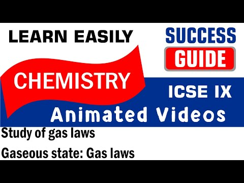 ICSE  CLASS IX CHEMISTRY Study of gas laws-1- Gaseous state: Gas laws  BY SUCCESS GUIDE.