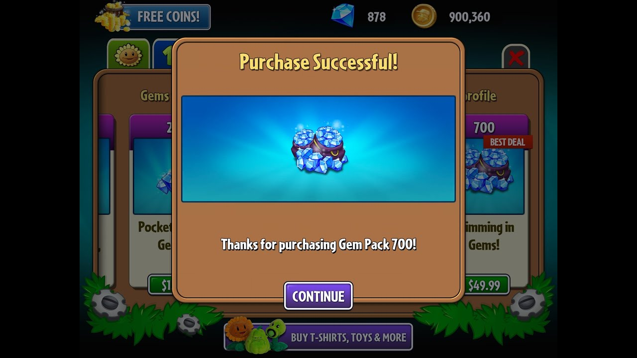 Hack Plants Vs Zombies 2 Purchased All Plants Coins And Gems