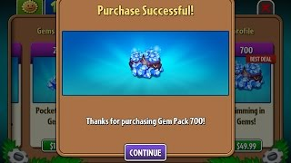 HACK Plants vs Zombies 2 - Purchased all Plants, Coins and Gems!
