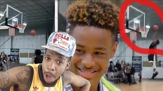 BRONNY GOES FOR THE DUNK!! LEBRON JAMES JR PUTTING ON A SHOW FOR JEFF TEAGUE!