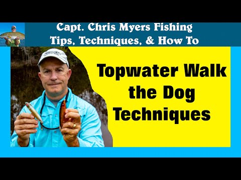 How To Walk The Dog With A Topwater Fishing Lure
