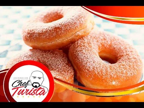 Como hacer donas caseras, facil y divertido!! How to make easy homemade donuts.