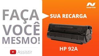 Recarga Toner HP C4092A 92A - HP LaserJet 1100 1100A 1100AXI - Vídeo Aula Toner Vale