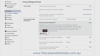 Hiding Your Facebook Friends List On Facebook PC version