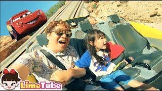 도전! 라임의 카레이싱 | 라임패밀리 디즈니랜드에가다! Challenge Car Racing | Disneyland Roller Coaster Rides Experience