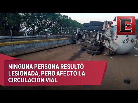 Cierran autopista México-Cuernavaca por accidente de pipa de gas