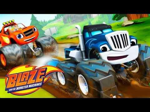 Blaze and The Monster Machines - Blaze Mud Mountain Rescue - Nickelodeon Jr Kids Game Video