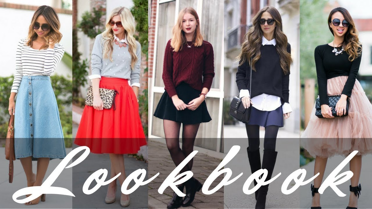 209ac03f002328 Fall 2017 & Winter 2018 Outfits Ideas | Sweaters with Skirts - YouTube