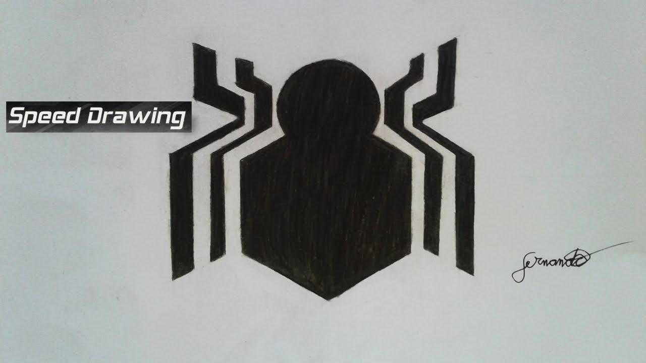 Desenho Rápido Símbolo Do Homem Aranha De Volta Ao Lar