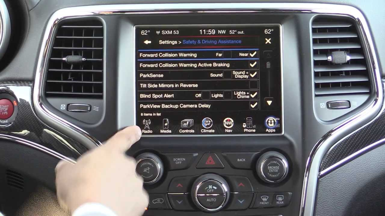 2014 Jeep Grand Cherokee Srt Infotainment Review 2014