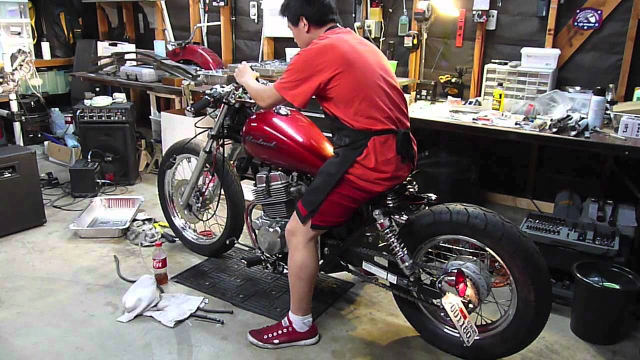 Honda Rebel Bobber Project - Fire it up! - YouTube