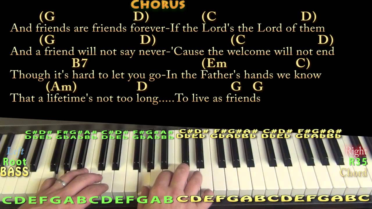 Friends are friends forever piano cover lesson with chords friends are friends forever piano cover lesson with chordslyrics hexwebz Choice Image