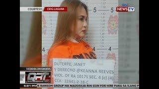 QRT: Artistang si Keanna Reeves, inaresto para sa kasong Cyber Libel