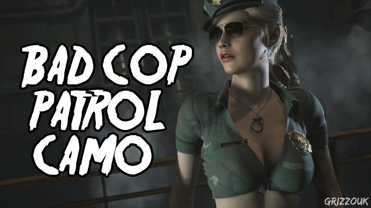 Resident Evil  Remake Claire Redfield Sexy Bad Cop Patrol Camo