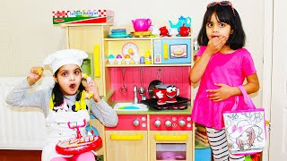 If No Customers in Restaurant | Katy & Ashu Pretend Play as Chef and Customer | Cooking Kids Toys