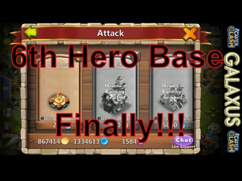 |:|free-to-play #23|:| Got That 6th Hero Base Today!!! Dungeons Time For TheGodSquad (Castle Clash)