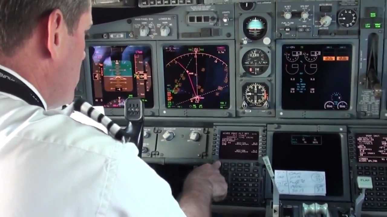 Panel Tv {swa} 737-700 Cockpit Pre-flight 9 Minutes Of Footage