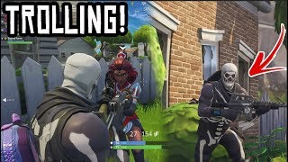 TROLLING AVEC 'RARE' SKULL TROOPER ACCOUNT!! SKULL TROOPER SKIN en fortnite!