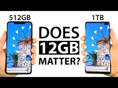 S10 Plus 1TB vs iPhone Xs Max 512GB Speed Test
