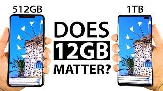 S10 Plus 1TB vs iPhone Xs Max 512GB Speed Test thumbnail