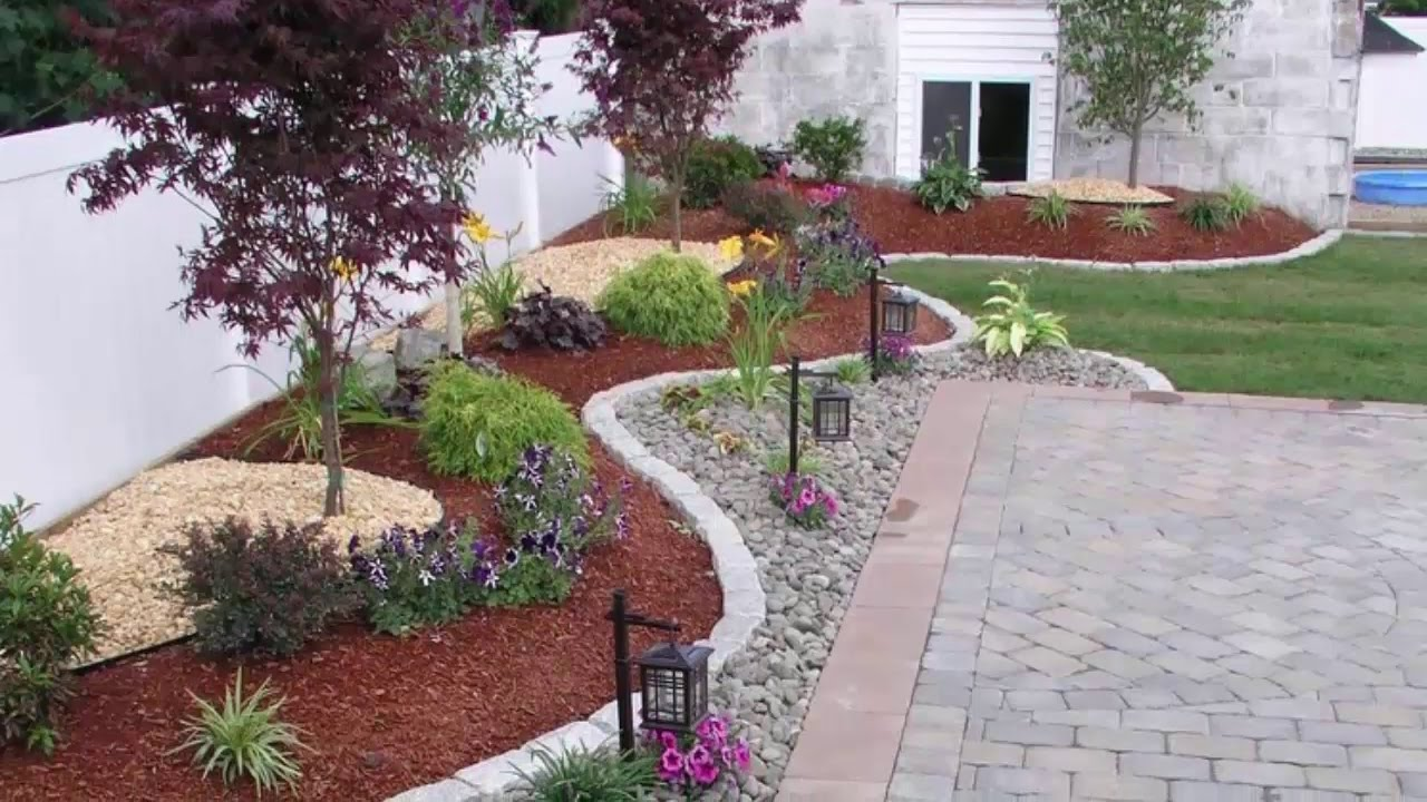 10 Outdoor backyard makeover design ideas - YouTube on Back Patio Landscape Ideas id=61489