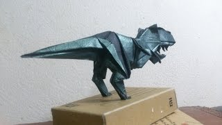 How to fold the tyrant dinosaurs (Cách gập khủng long bạo chúa )