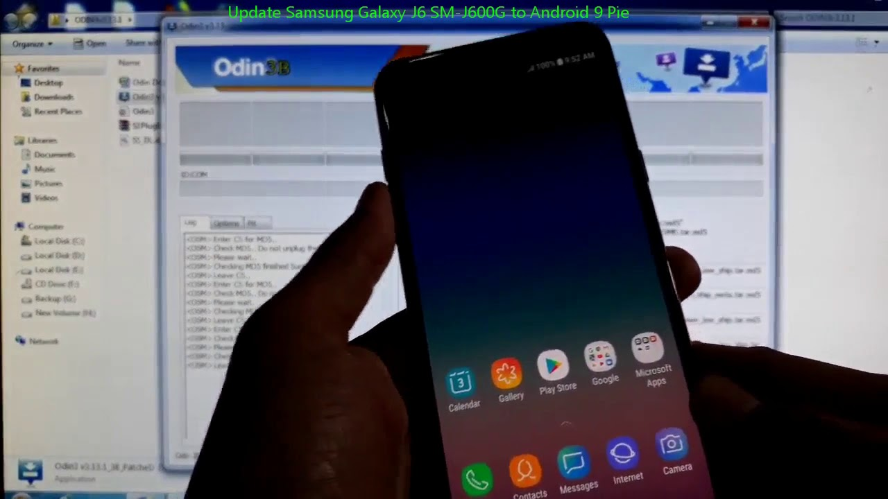 Update Samsung Galaxy J6 SM-J600G to Android 9 Pie